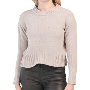 NWT-KENDALL + KYLIE  Matte Chenille Sweater
